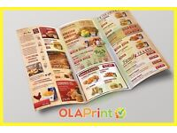 Leaflets, Flyers, Design & Printing, Takeaway Menu, Posters, Catalogue, FAST DELIVERY BUY NOW