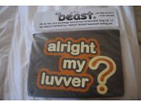 Men's brand new 'alright my luvver?' T-shirt in dark brown