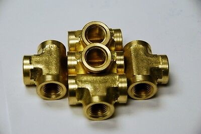 Brass Fittings Brass Tee Forged Female Pipe Size 38 Qty 5