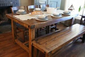 Harvest Dining Table, All Solid Wood! By LIKEN Woodworks