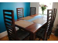 Dining table + 6 chairs - all solid wood - £365.