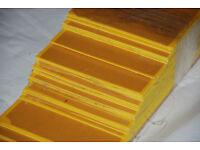 Self-Adhesive Yellow Door Kick Plates PVCu Hewi Ironmongery New / Never Used