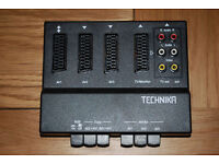 3 way scart switcher switch box - retro gaming, dvd, vcr etc.