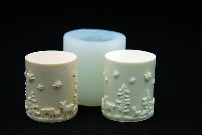 Christmas candle, Silicone Mold Chocolate Polymer Clay Jewelry Soap Wax Resin