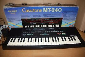 Casiotone MT-240 keyboard w/power cable