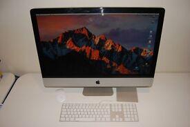 """Apple iMac 27"""" Mid 2011 3.4GHz Intel Core i7/16GB Ram/250GB Mac System HD + 1TB"""