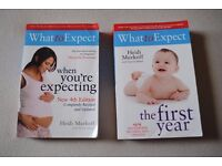 What to Expect when Expecting AND First year books