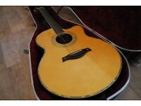 TANGLWOOD SUNDANCE ELECTRO ACOUSTIC GUITAR TW58 + HISCOX CASE