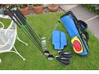Young Gun Green SGS Junior Eagle Left-Handed Golf Set of 2 Woods, 4 Irons and 1 Putter with Golf Bag