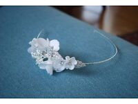 Davids Bridal floral and pave wedding headband