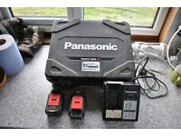 PANASONIC DRILL CHARGER AND BATTERIES AND CASE
