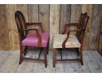 GEORGIAN elbow chair x1 repro antique chic armchairs decorative gplanera
