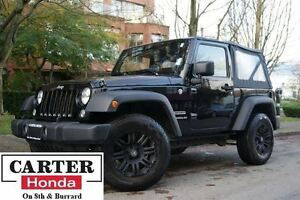 2014 Jeep Wrangler Sport + BLACK RIMS + NEW YEAR CLEARANCE!