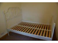 IKEA LEIVIK DOUBLE BED FRAME WHITE