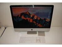 "Apple iMac 27"" Mid 2011 3.4GHz Intel Core i7/16GB Ram/250GB Mac System HD + 1TB"