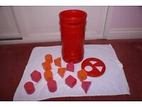 Post Box with Shapes - 1970's Vintage - in good condition.