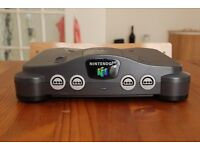 N64 Nintendo Games Console with official N64 controller and power lead (no A/V cable)