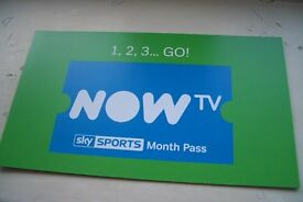 NOW TV 1 MONTHS SKY SPORTS PASS Genuine Card