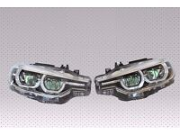 Left hand drive Bixenon LCI headlights BMW F30 F31 2015 - onwards LHD COMPLETE MOT TUV APK