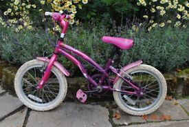Popstar Bicycle suitable for around 4/5 years old, with helmet and bag.