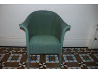 NEW PRICE: Original Lloyd Loom chair by Lusty with original label - very good condition - see images