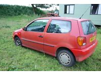 For Sale 1997 VW Polo 1900 Diesel Red spares or repair been in family since new