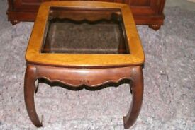 Oak Coffee Table with Glass Panel