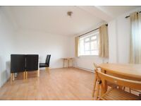 A newly refurbished three bed flat with communal gardens and gym access close to local transport