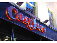 Bar staff and glass collectors wanted at CosyJoes
