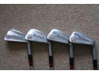 Nicoll of Scotland Brian Huggett set of golf clubs, 8 irons, 4 woods