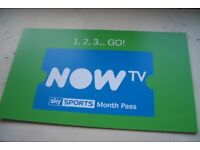 Now tv 1 Month Sky Sports Pass - Genuine