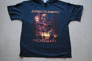 AVENGED-SEVENFOLD-NIGHTMARE-INNER-RAGE-T-SHIRT-XL-A7X-OFFICIAL-HAIL-TO-THE-KING