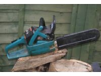 MAKITA CHAINSAW,,,IN GOOD CONDITION GOOD STARTER AND RUNNER.