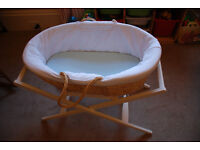 Mamas & Papas Moses Basket, Stand, & Accessories
