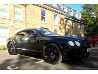 BENTLEY CONTINENTAL GT ALL BLACK ON RED INTERIOR 22 KHAN