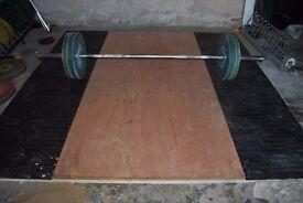 Olympic Weightlifting/Deadlift Platform - Weights Gym Rubber Matt Plywood