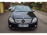 Mercedes C220 CDI AMG SPORT 2008 *LOW MILEAGE 62426* AUTOMATIC WITH FULL SERVICE HISTORY £9000 ONO