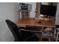 Computer desk & chair for sale