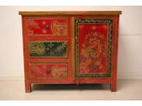 Beautiful hand painted solid wood chest of drawers
