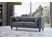 New Florence plush velvet sofa 3+2 seater in grey colour **|Cash on delivery|**