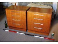 G Plan Fresco 4 drawer 1960s Danish teak era mid century modern vintage chest of drawers gplanera