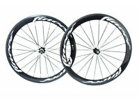 Fincci TM Carbon Bike Bicycle Wheels Wheelset 700c Road Racing 52mm Clincher New