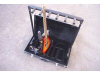 Rockstand Stage Guitar Stand, folding, in case, holds 5 instruments.