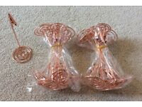 24 x ROSE GOLD TABLE PLACE HOLDERS / WEDDING