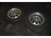 15 inch B.M.W alloy wheels with great tyres