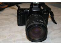 PENTAX MZ-10 FILM CAMERA with SIGMA ZOOM 28-200mm 1:3.8-5.6
