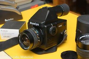 Mamiya 645E Mint conditon, with 80mm 2.8  55mm 2.8  150mm 3.5 Fotodiox to Canon adapter
