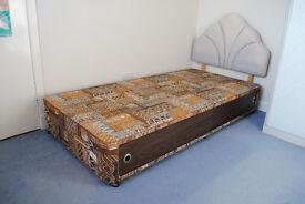 Divan Single Bed base with Headboard. £10