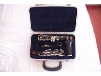Clarinet Artley 17S box and sheet of music 'The Clarinet' book by Otto Langey. Boosey and Hawkes.