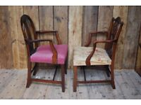 GEORGIAN elbow chairs repro antique chic armchairs decorative gplanera